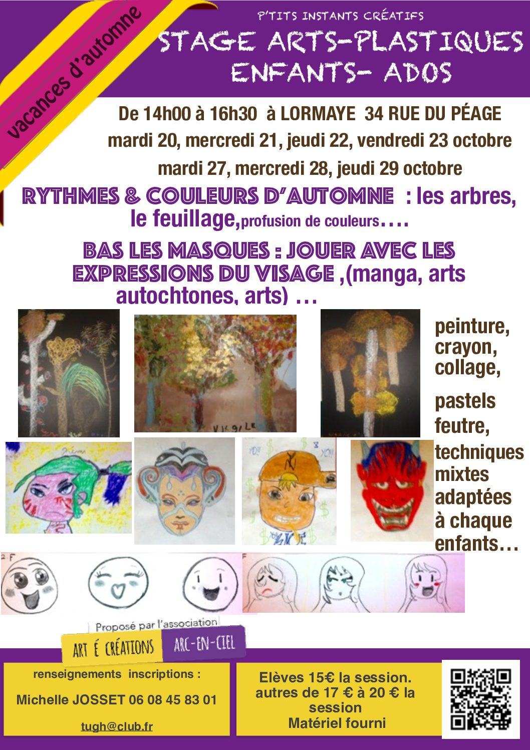Stage arts-plastiques Enfants-Ados